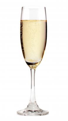 Glass of white champagne.