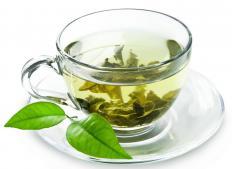 Hot green tea.