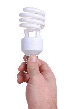 A compact fluorescent (CFL) bulb.