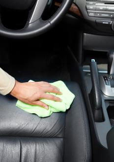 Leather is a popular car upholstery fabric.