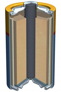 A zinc-carbon battery.
