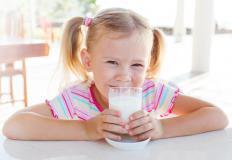 Some children could develop diarrhea after drinking milk.