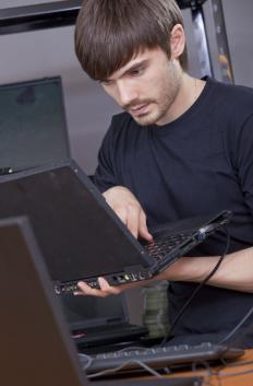A computer programmer working.