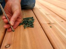 All types of wooden decks will be exposed to the elements, so it's important to use screws and other hardware that will resist damage.