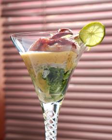 A shrimp cocktail makes a nice appetizer.
