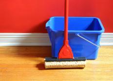 A sponge mop.