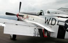 The P-51 Mustang was a fighter and bomber plane used in World War II and the Korean War.