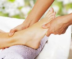 Gentle foot massages may help treat an injury to the abductor hallucis.