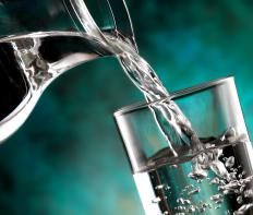 A full glass of water should be taken with atenolol.