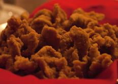 Rocky Mountain oysters are commonly breaded and fried.