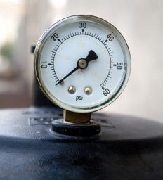 A Bourdon Pressure Gauge.