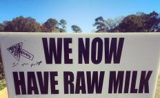 A farm selling raw milk.