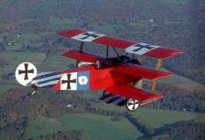 When Manfred von Richthofen painted his plane red to make it easy to identify, he acquired the nickname of the Red Baron.