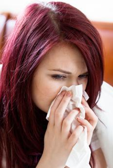 Nasal congestion or a runny nose may be a symptom of the common cold.