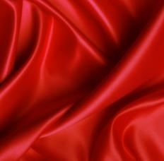 A closeup of a sateen sheet.