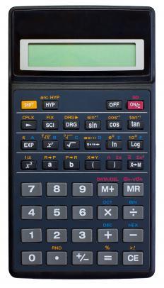 A scientific calculator.