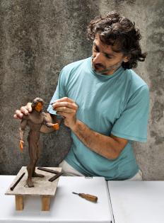 Visual arts include sculpting.