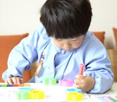 """A young child might start imposing his own """"quiet time"""" so he can do some coloring."""