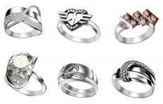 Alpaca silver rings.