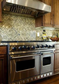 Stainless steel appliances give kitchens a luxurious look.