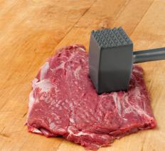 A piece of minute steak.