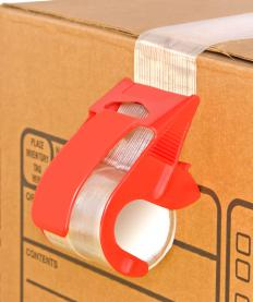 Strapping tape is intended for use in shipping.