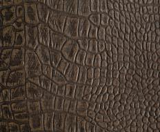 Textured brown vegan leather.