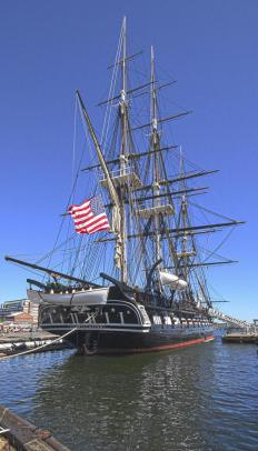 Parts of the USS Constitution are on display at the Paul Revere House.