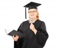 Salutatorians traditionally give a speech during graduation.