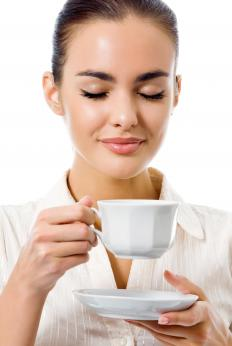Green tea naturally contains caffeine.