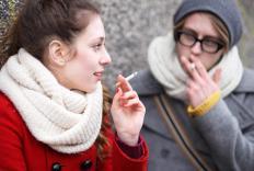 Smoking may affect the speech organs.