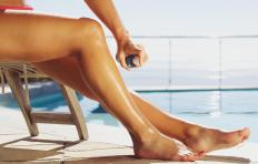 Spray tan products may turn a person's skin orange.