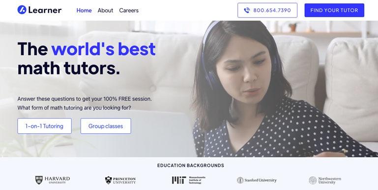 Learner online math tutors