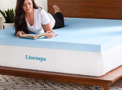 Linenspa Gel-Infused Memory Foam Mattress Topper
